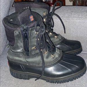Sorel Kaufman Canada winter boots black zip men 9